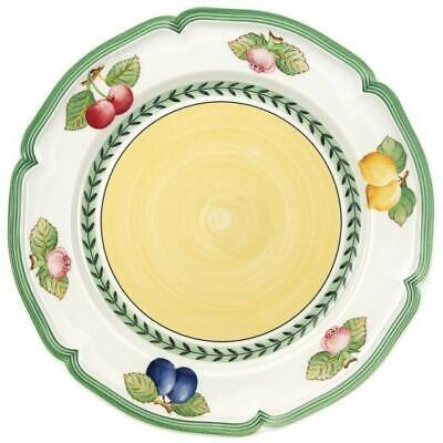 NEW French Garden Fleurence by Villeroy & Boch Dinner Plate Fruit Rim Yellow Ctr