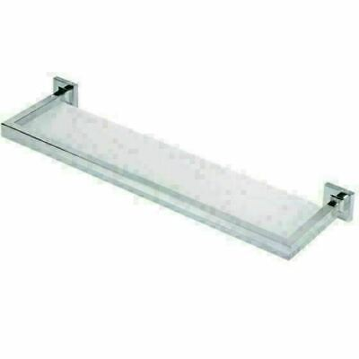 """New Brushed Nickel Luxury Glass Artos Diora Bathroom Wall Shelf 22"""" W, used for sale  Shipping to India"""