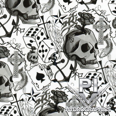 Hydrographics Film Hydro Dipping Water Transfer Printing Film Lucky Skulls Ll490