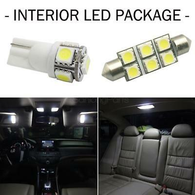 6x White LED Lamps Bulb Combo Map /Dome /Licence Plate Interior Lights Package