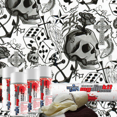 Hydro Dipping Water Transfer Printing Hydrographic Dip Kit Lucky Skulls Ll-490