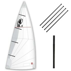 Rooster 8.1 Laser Dinghy Sail - Battens - Mast Extender - Bag and Roll-Pole Hardly used