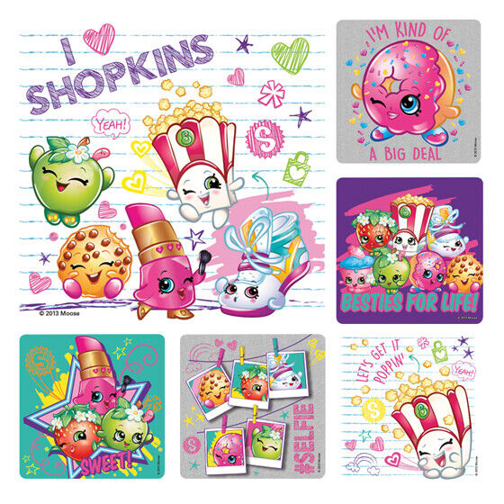 25 Shopkins STICKERS Party Favors Supplies Birthday Treat Lo