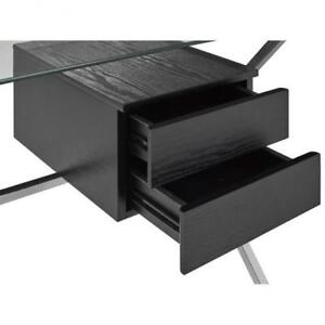 Office Desk W/ Tempered Glass Top (BR1112)