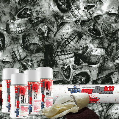 Hydrographic Film Kit Hydro Dipping Water Transfer Printing Skulls Ll869