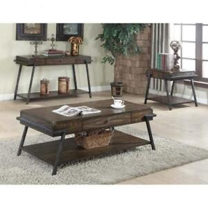 Wooden coffee Table with Mettalic Legs (BD-1939)