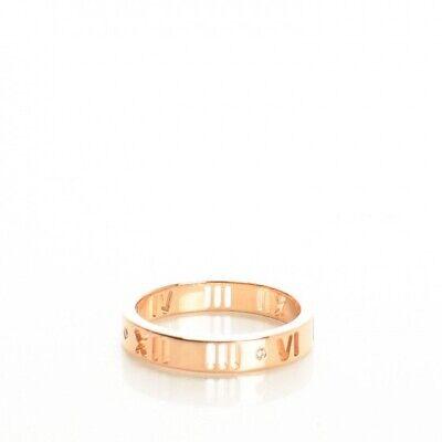 Tiffany 18k Rose Gold Diamond Atlas Pierced Ring 5.5