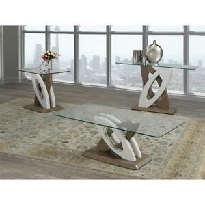 Glass Top Coffee Table With X- Base (BR1111)