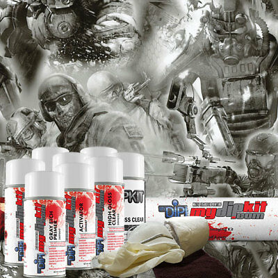 Hydro Dipping Water Transfer Printing Hydrographic Kit Team Apocalypse Dd-747