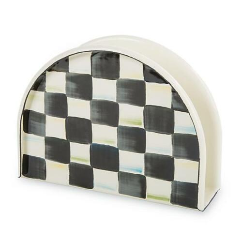 MacKenzie-Childs Courtly Check Napkin Holder New MSRP $48