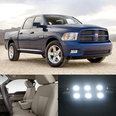 7pcs White LED Light Bulbs Interior Package for Dodge Ram 1500 09-2015 Map Dome