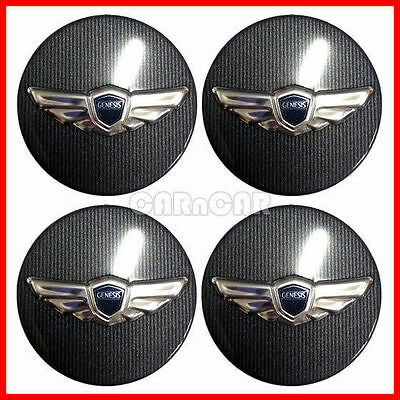 OEM GENUINE FOR GENESIS SEDAN 17inch CENTER WHEEL CAP SET 2009-2014 ( 4-PIECE ).