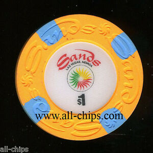 $1 Sands Old Obsolete 17th issue Las Vegas Chip Uncirculated Orange $1