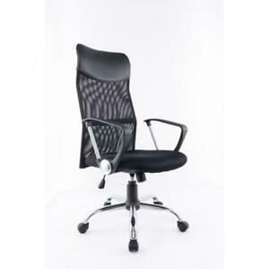 BLACK ADJ. OFFICE CHAIR WITH GAS LIFT (BR2472)