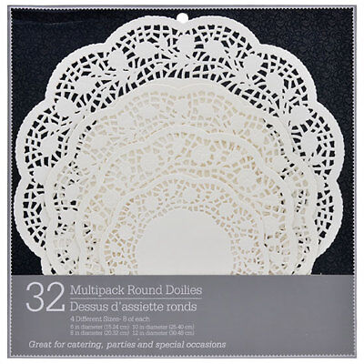 32 Round Paper Crochet Doily Doilies 4 Different Sizes 6