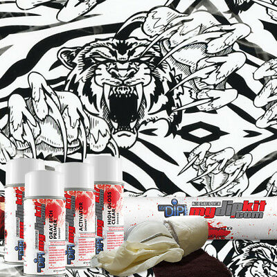 Hydro Dipping Water Transfer Printing Hydrographic Film Dip Kit Tiger Ll153