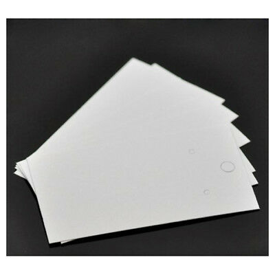 100pcs White Earrings Jewelry Display Cards 9x5cm G6s1