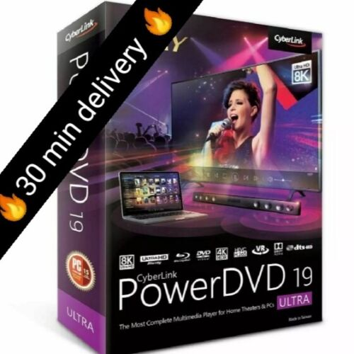 Cyberlink PowerDVD Ultra-19 ✔Full version✔ lifetime activeted key✔fast download✔