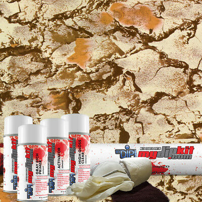 Hydrographic Film Kit Hydro Dipping Water Transfer Printing Nat Gear Camo Rc-144