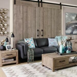 The URBAN BARN Diego LEATHER COUCH –Ox Grey (reg price $2,999)