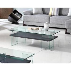 Modern 3 PC Glass Coffee Table Set  (BD-1955)