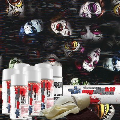 Hydro Dipping Water Transfer Printing Hydrographic Dip Kit Day Of Dead Dd-929