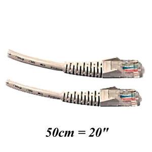 """Gros Câble 20"""" (50cm) Réseau Ethernet LAN RJ45 Laptop YYYY"""