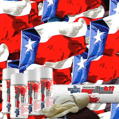 Hydro Dipping Water Transfer Printing Hydrographic Dip Kit Texas Flag Rc405
