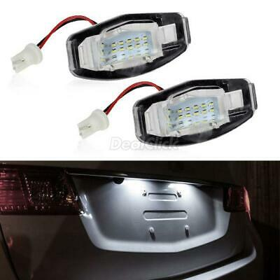 2pcs White LED License Plate Light Pair Rear Lamps For Accord MDX RL TSX 2003-08
