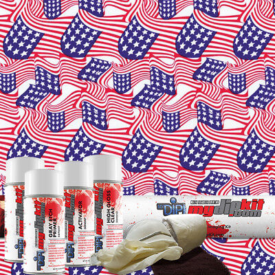 Hydro Dipping Water Transfer Printing Hydrographic Film Dip Kit Usa Flag Ll-361