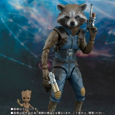 S.H.figuarts Guardians of th Galaxy Remix Rocket Baby Groot Action Figure Marvel