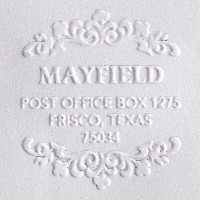 Custom Round Shiny Seal Personalized Address Embosserchristmas Wedding Embosser