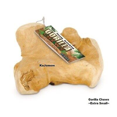 GORILLA CHEWS Dog XS Bone JAVA Wood Treat GENUINE Dental Harder Than Antler