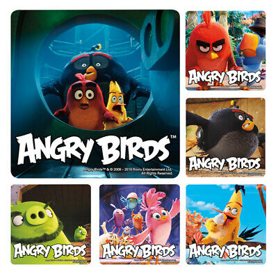 25 Angry Birds Movie STICKERS Party Favors Supplies Birthday Treat Loot Bags