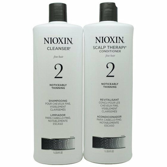 Nioxin System 2 Cleanser & Scalp Therapy Duo  33.8 oz