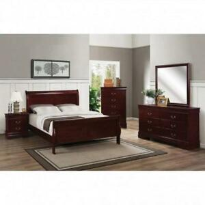8 PC Queen Solid Wood Bedroom Set on Sale (BD-1863)