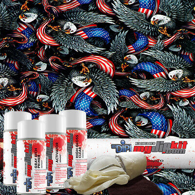 Hydro Dipping Water Transfer Printing Hydrographic Dip Kit American Pride Dd-972