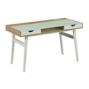 OFFICE DESK WITH TEMPERED GLASS (BR2460)