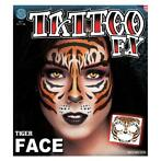 neptatoeage Face Tattoo Tijger polyester