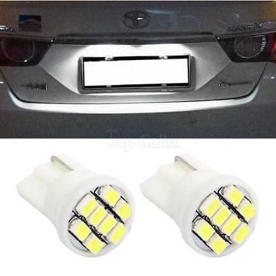 2x Xenon White T10 194 License Plate Light LED 8-SMD Epistar SMD Bulb For Buick