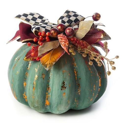 Brand New Mackenzie Childs Verdigris Pumpkin - Medium