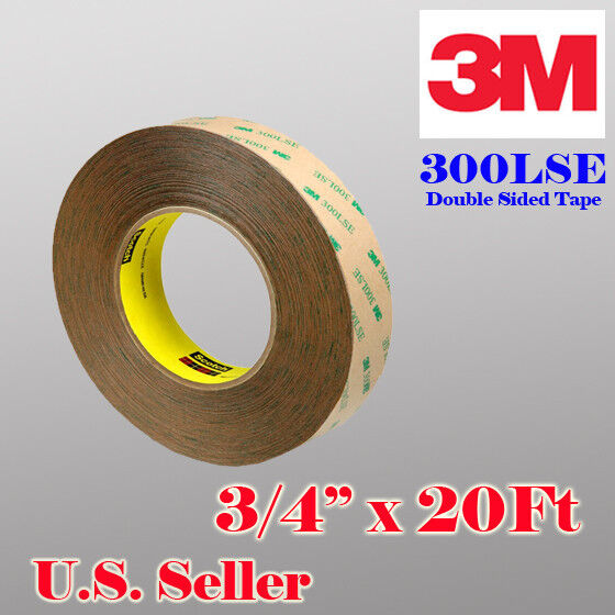 """3m 300lse 3/4"""" X 20 Ft Double Sided Sticky Adhesive Tape High Bond Iphone Screen"""