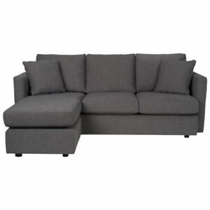 Custom Urban Barn Reeve Sofa Chaise Charcol