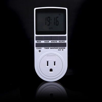 Us Plug Lcd Display Programmable Digital Timer Switch Socket 1224 Hour 7 Day