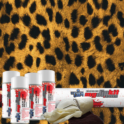 Hydro Dipping Water Transfer Printing Hydrographic Film Dip Kit Cheetah Ap033