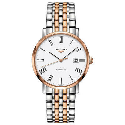 L49105117 Longines Elegant White Dial and 18K Rose Gold Automatic Ladies Watch