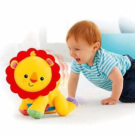Genuine & NEW, Fisher-Price Mattel, Touch 'n Crawl Lion