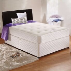 🔥FREE DELIVERY🔥BRAND NEW 4FT6 /4FT or 5FT Divan Bed w Dual-Sided 10inch Royal Orthopaedic Mattress