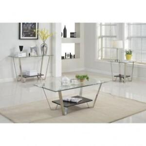 CONTEMPORARY GLASS COCKTAIL TABLES (BR2303)
