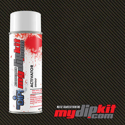 Hydrographics Activator Hydro Dipping Film Combo Silver Clear Carbon Cf00-33